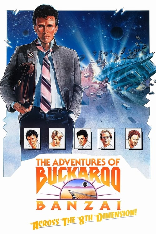 Movie poster of The Adventures of Buckaroo Banzai Across the 8th Dimension