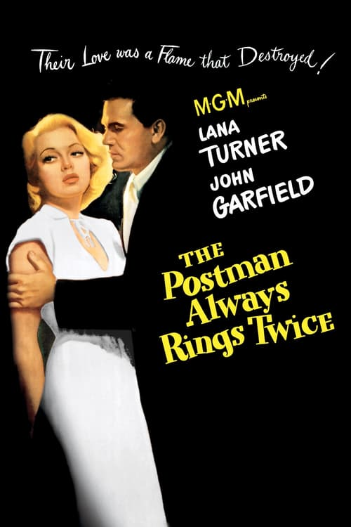 Movie poster of The Postman Always Rings Twice