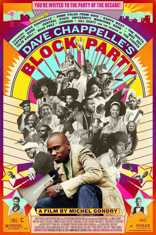 Movie poster of Dave Chappelle's Block Party