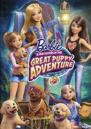 Movie poster of Barbie & Her Sisters in the Great Puppy Adventure