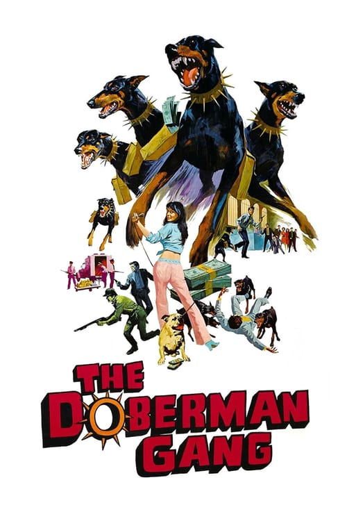 Movie poster of The Doberman Gang