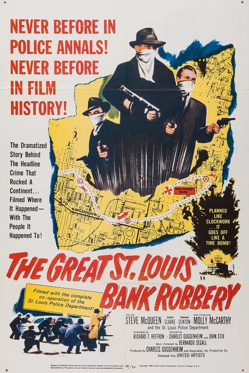Movie poster of The Great St. Louis Bank Robbery