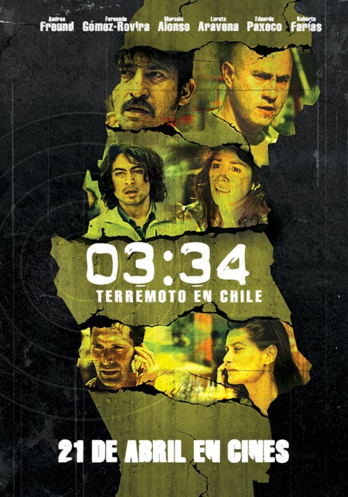 Filmplakat von 03:34 Earthquake in Chile
