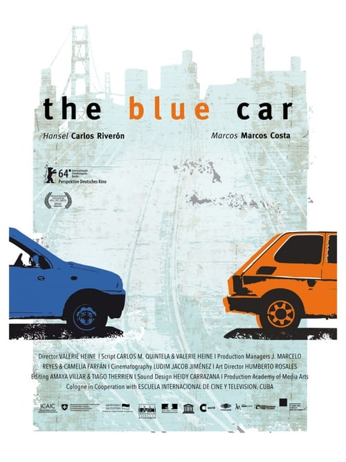 Movie poster of The Blue Car