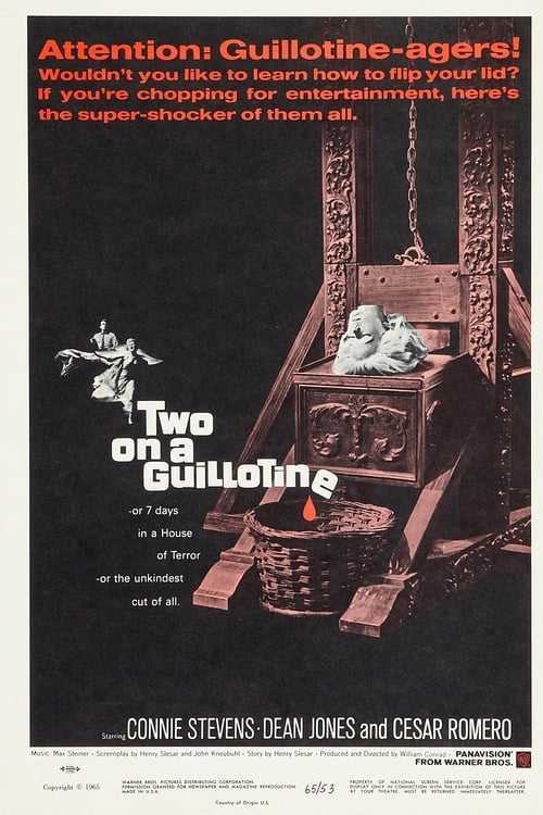 Movie poster of Two on a Guillotine