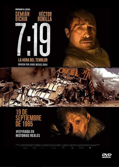 Movie poster of 07:19 La Hora del Temblor